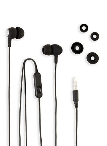 Sporty Stereo Earbuds,BLACK,large