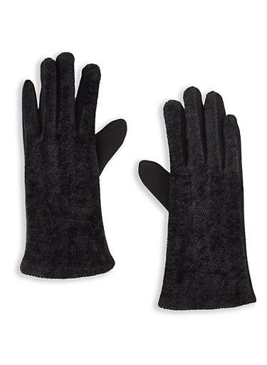 Multi Textured Texting Gloves,BLACK,large