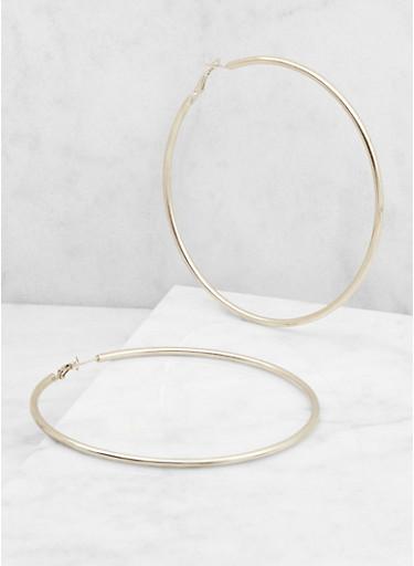 Large Hoop Earrings,SILVER,large