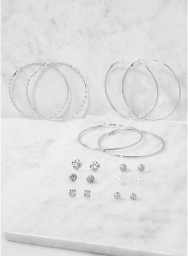 Assorted Set of Hoop and Stud Earrings | Tuggl