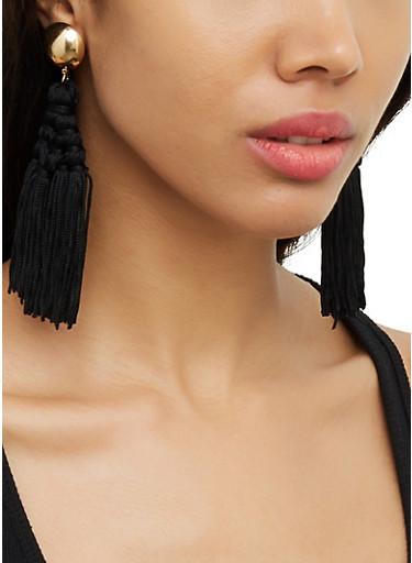 Tassel Chandelier Earrings | 3122074980554,BLACK,large