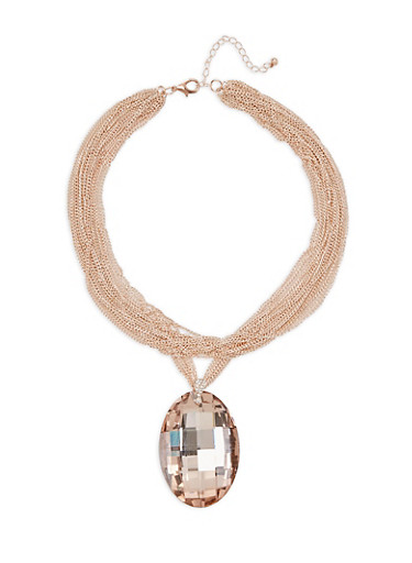 Large Charm Layered Chain Necklace | Tuggl
