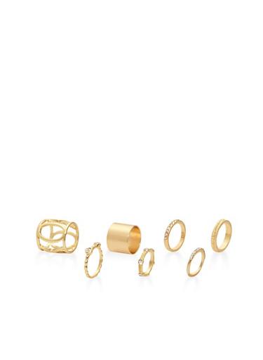 Set of Assorted Metallic Rings - 3123074173003