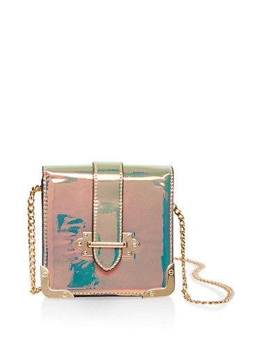 Iridescent Crossbody Bag,MULTI COLOR,large