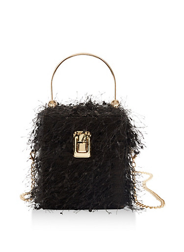 Cube Crossbody Handbag,BLACK,large