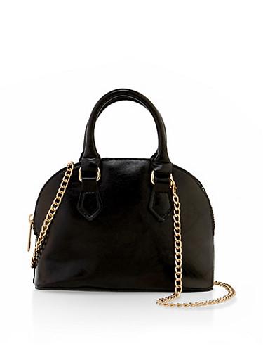 Mini Structured Crossbody Bag,BLACK,large