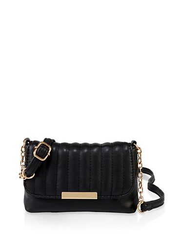 Small Quilted Crossbody Bag | 3124067442066,BLACK,large