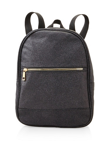 Glitter Backpack,BLACK,large