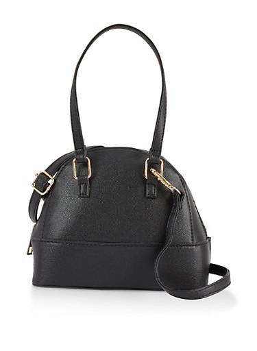Small Dome Crossbody Bag,BLACK,large
