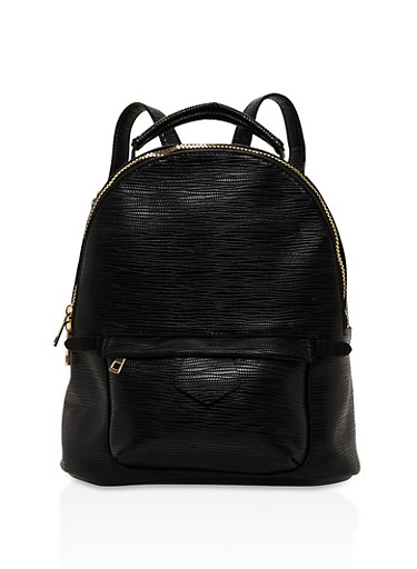 Textured Zip Backpack | Tuggl