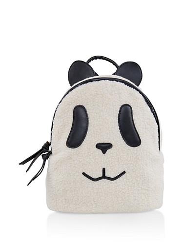 Sherpa Panda Backpack,NATURAL,large