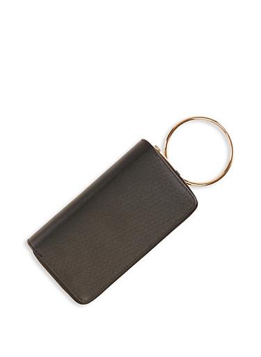 Zip O Ring Wallet,BLACK,large