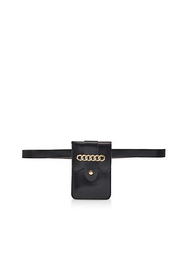 Chain Detail Belt Bag | 3126067440309,BLACK,large