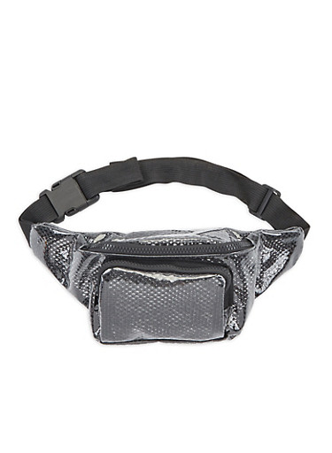 Mesh Interior Clear Fanny Pack | Tuggl