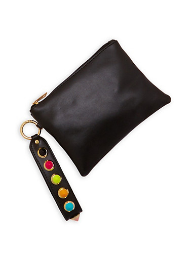 Multi Color Studded Strap Clutch | Tuggl