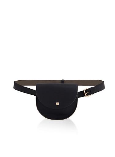 Small Satchel Belt Bag,BLACK,large