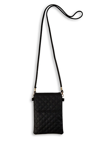 Quilted Crossbody Bag |  3126067449298,BLACK,large