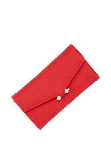 Faux Saffiano Leather Envelope Wallet - 3126071211027