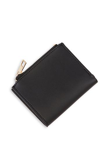 Single Fold Wallet,BLACK,large