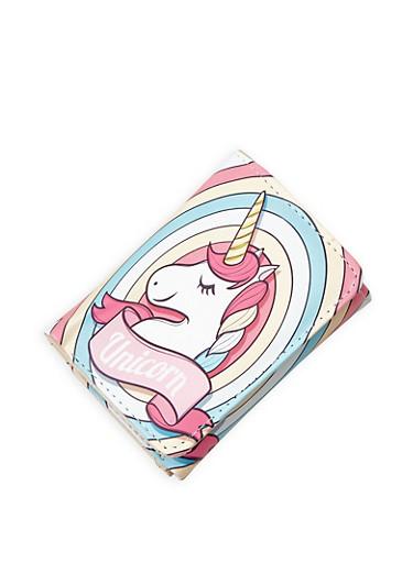 Unicorn Graphic Tri Fold Wallet,MULTI COLOR,large