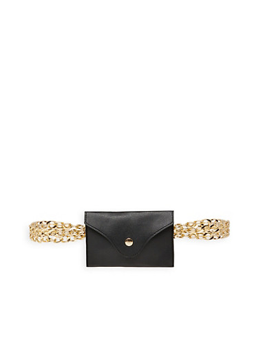 Crossbody Chain Pouch,BLACK,large