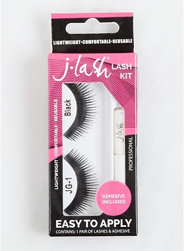 False Eyelash Set,BLACK,large