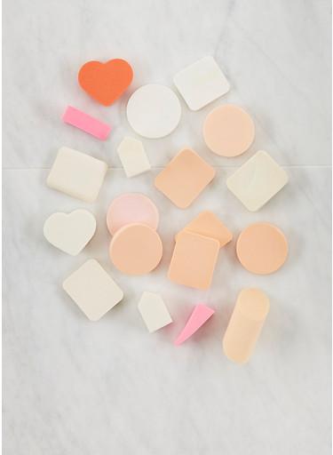 Assorted Makeup Sponge Set,WHITE,large