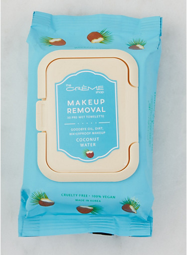 Coconut Water Makeup Removal Towelettes,BABY BLUE,large