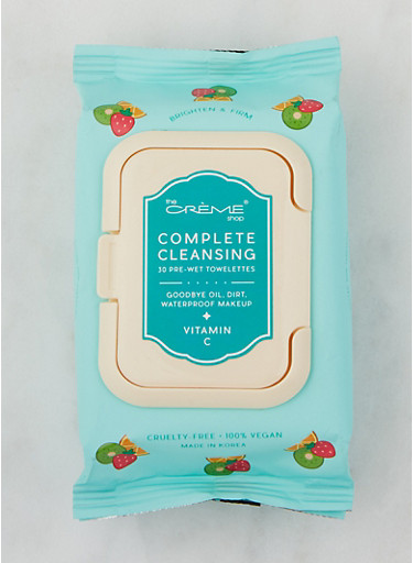 Complete Cleansing Vitamin C Towelettes,TURQUOISE,large