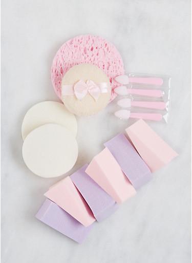 Assorted Makeup Sponge Set,PINK,large