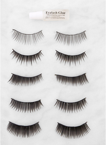 5 Pair False Eyelashes | 3127072600012,BLACK,large
