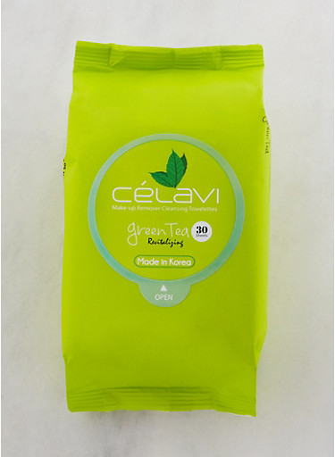 Green Tea Makeup Remover Cleansing Towelettes,GREEN,large