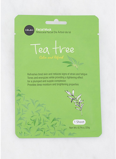 Tea Tree Calm and Refresh Facial Mask,GREEN,large