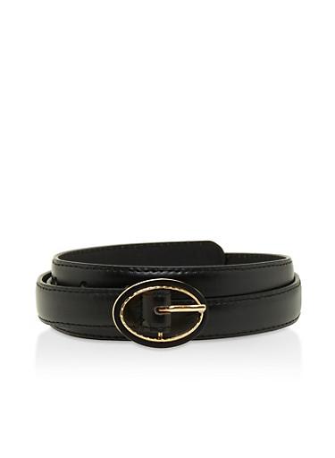 Faux Leather Skinny Belt | Tuggl