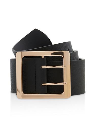 Plus Size Square Buckle Belt,BLACK,large