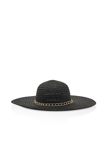 Chain Link Floppy Hat,BLACK,large