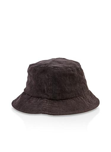 Corduroy Bucket Hat,BLACK,large