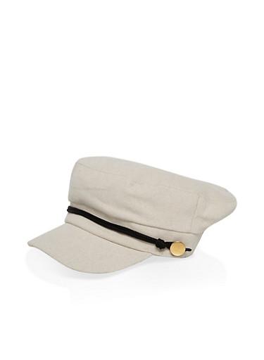 Metallic Detail Newsboy Hat | Tuggl