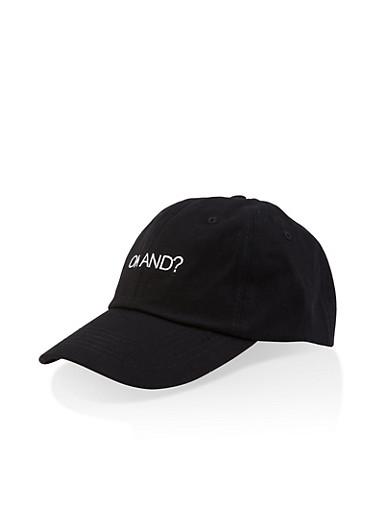 Graphic Baseball Cap,BLACK,large