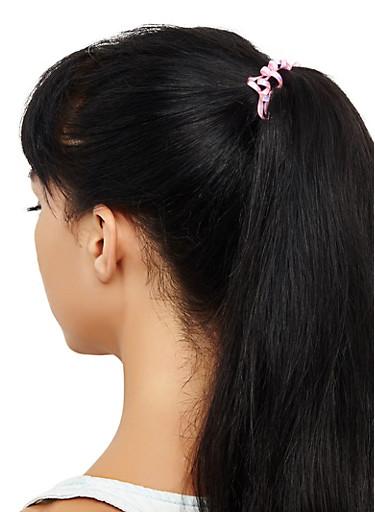Set of 4 Spiral Cord Hair Ties,YELLOW,large