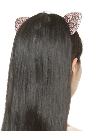 Glitter Cat Ear Headband,BLUSH,large