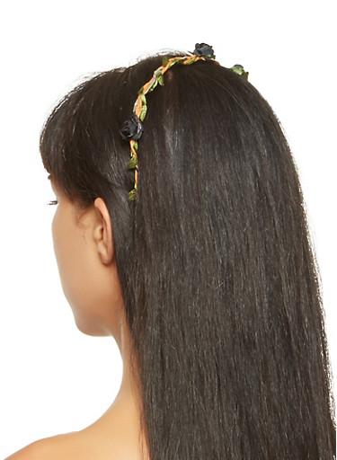 Flower Headband,BLACK,large