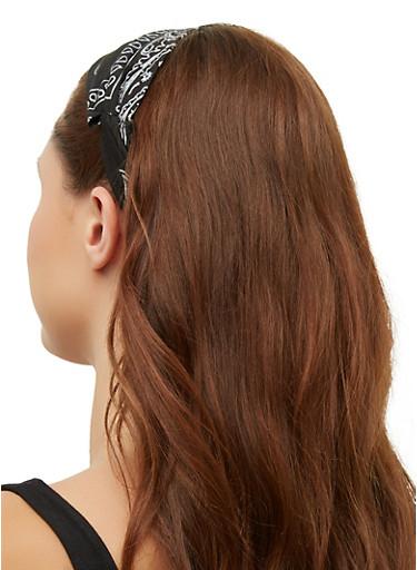 Bandana Print Head Wrap | 3131063093256,BLACK,large