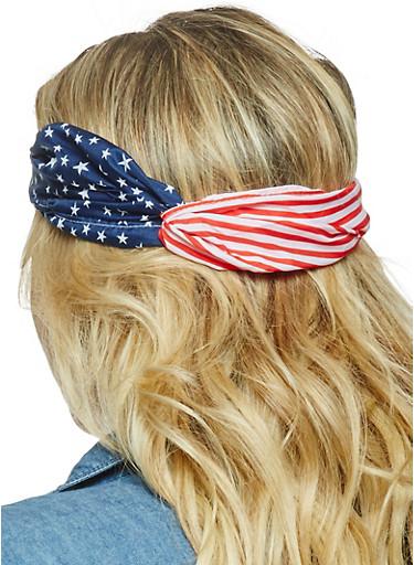 Americana Head Wrap,RED,large