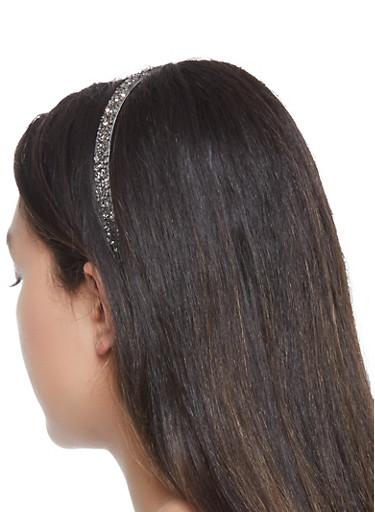 Rhinestone Studded Headband,SILVER,large