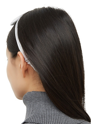 Glitter Bow Head Wrap,WHITE,large