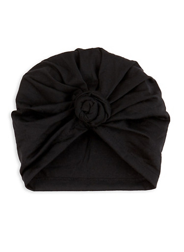 Knotted Head Wrap,BLACK,large