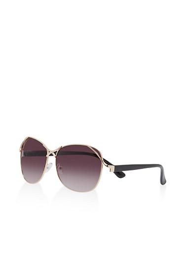 Metallic Detail Sunglasses   Tuggl