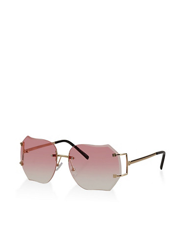 Rimless Colored Sunglasses | Tuggl