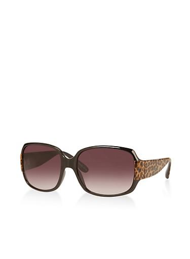 Leopard Arm Plastic Sunglasses,BLACK,large